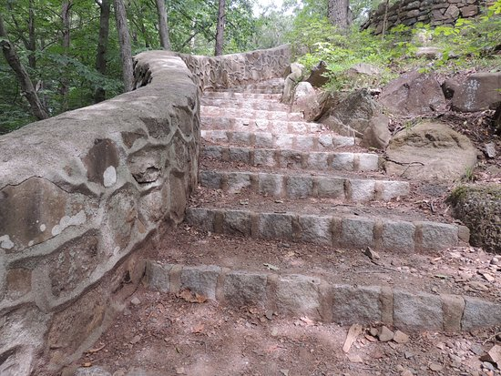 South Mountain Reservation: Cool stairway above the falls