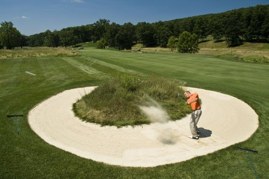 Bedford, PA: Sand Trap On The Old Course