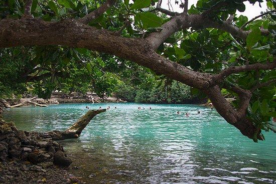 Espiritu Santo, Vanuatu: Even overcast the water still looks blue.