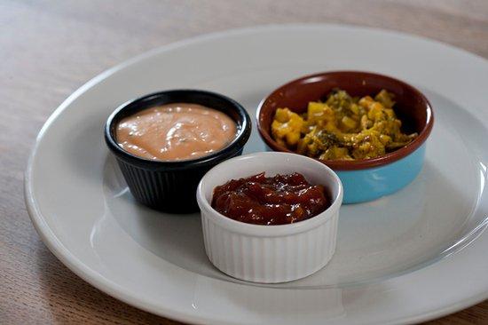 Wittersham, UK: Homemade dips, sauces and chutneys....