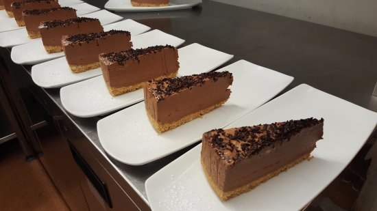 Oxney Gourmet Pie & Burger Bar: Chocolate cheesecake