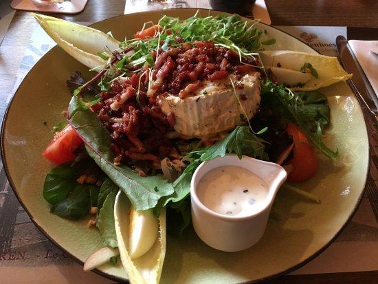 Lokeren, Belgique : salade geitenkaas