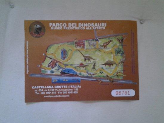 Il Parco dei dinosauri: Biglietto di ingresso