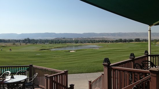 Three Crowns Golf Club: view from patio