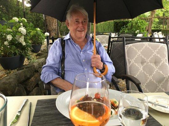 Landhaus Diedert: Een klein regenbuitje en een paraplu als extra service