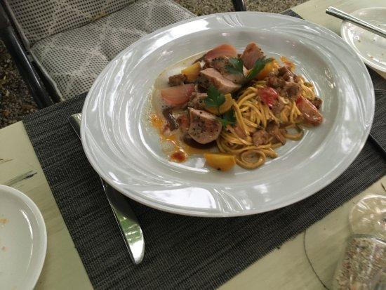 Landhaus Diedert: Spaghetti en zeevruchten