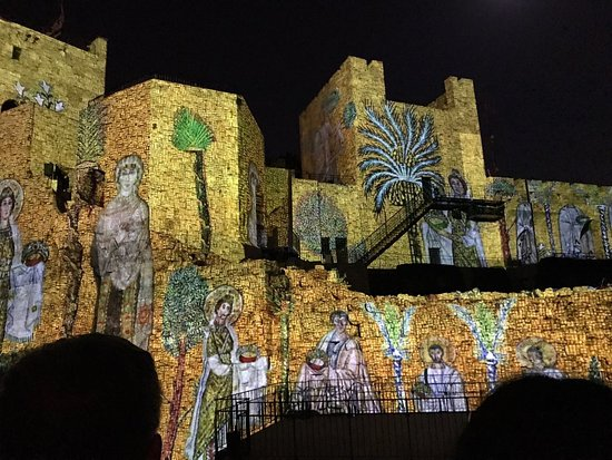 Jerusalem Walls - City of David National Park: City of David light show