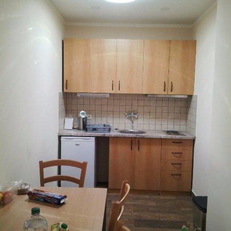 Aparthotel Lublanka: Кухонная зона