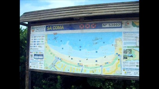 Sa Coma, Spain: information board