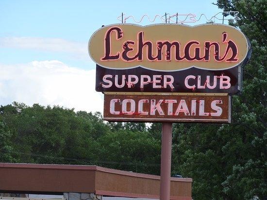 Rice Lake, WI: Main Sign outside Leahman's