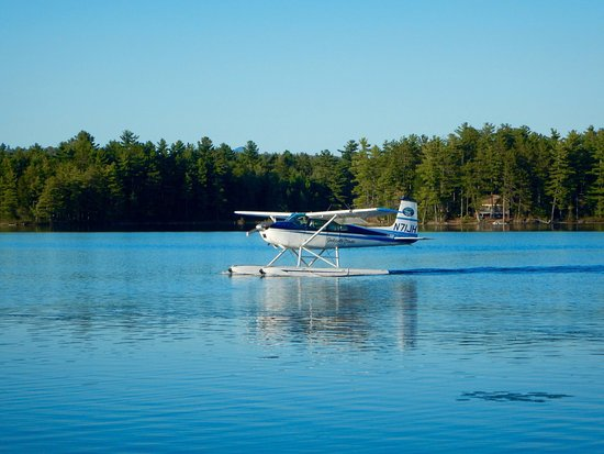 West Forks, ME: You can take a seaplane tour right from the shores or Lake Moxie