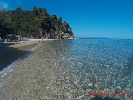 Zografou, יוון: Der Strand!