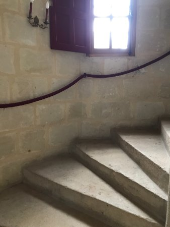 Roiffe, França: Inside the Chateau and the stairs leading to the guest rooms. Try to put at least i night stay o
