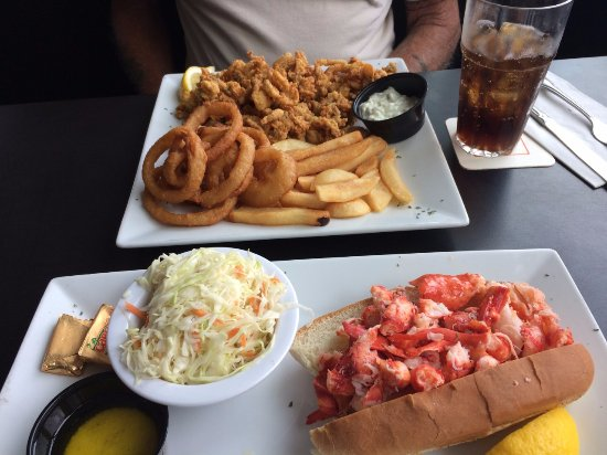 Nahant, MA: The half order clams and the naked lobster roll