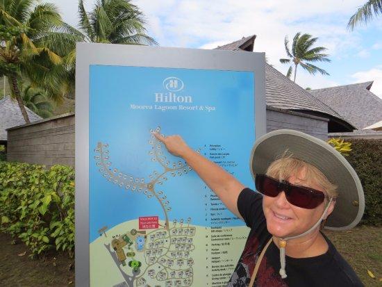 Room 86 Via The Map Picture Of Hilton Moorea Lagoon
