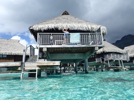 Hilton Moorea Lagoon Resort & Spa: Our room from the lagoon