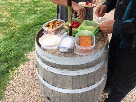 Penticton, Kanada: our yummy provided snacks!