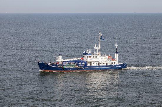 Bremerhaven, Deutschland: Roter Sand - die LEV Taifun (unser Schiff zum Leuchtturm)