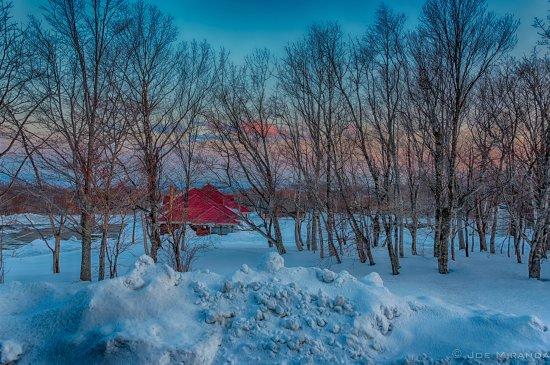 Kurihara, Japan: Sunrise from the cottage
