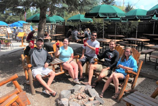 Almont, CO: Outdoor seating around fire pit