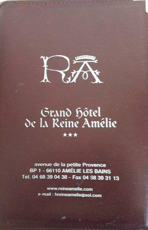 Grand Hotel de la Reine Amelie: sigle hôtel