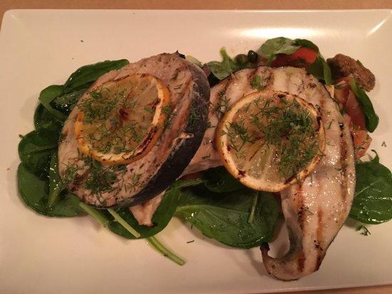 Elia : Succulent sword fish...
