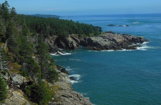 Lubec, ME: Looking N from coastal trail (see lighthouse)