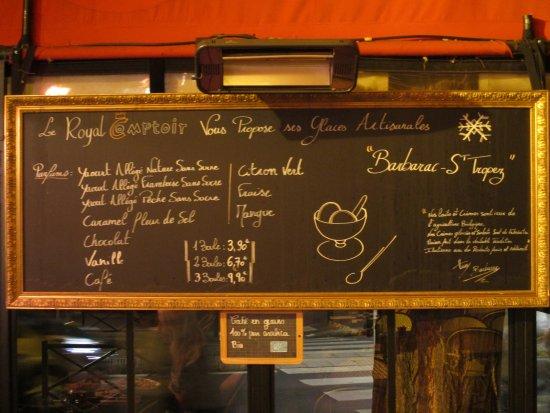 Saint-Mande, Γαλλία: Royal Comptoir - Glaces et café bio sur l'ardoise