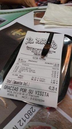 El Madrono Tapas Bar: cuenta