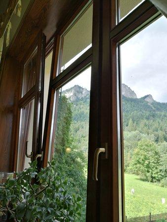 Schronisko Trzy Korony Restaurant: Widok z okna