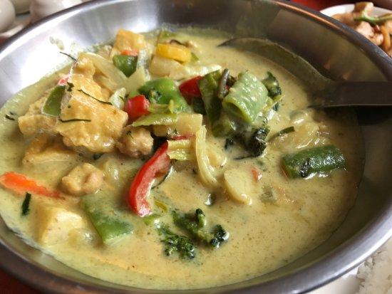 Pitea, สวีเดน: Fantastisk god grön curry gryta med tofu