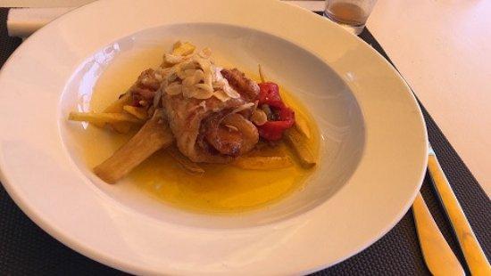 Segur de Calafell, Spanien: Rollos de pescado relleno de salmón y gambas