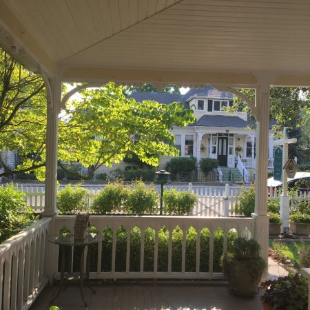 Emma Nevada House: View of the street from the front porch.