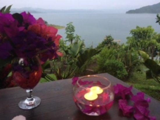 Nuevo Arenal, Kostaryka: Bougainvilias On the Lake