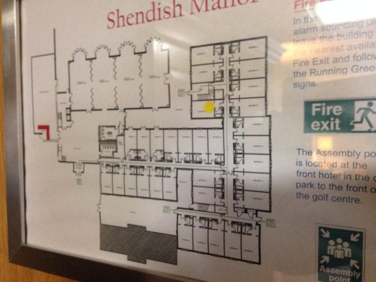 Shendish Manor Hotel: Room 50 location