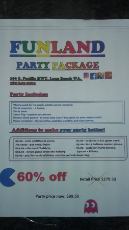 Long Beach, WA: Book your party at Funland! We have options for every one and every budget! Open 10-10. #Funland