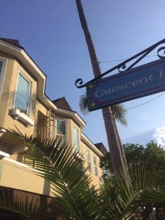 Street view looking up to Snug Harbor Inn