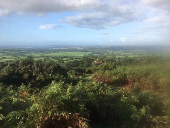 Wotter, UK: views from trails above the hotel