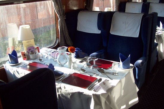 Loughborough, UK: Table laid in 1st class