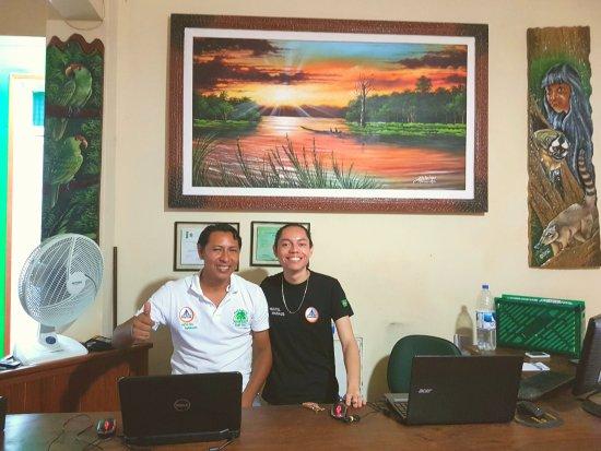Hostel Manaus: Vriendelijk, behulpzaam en ook Engelstalig balie-personeel