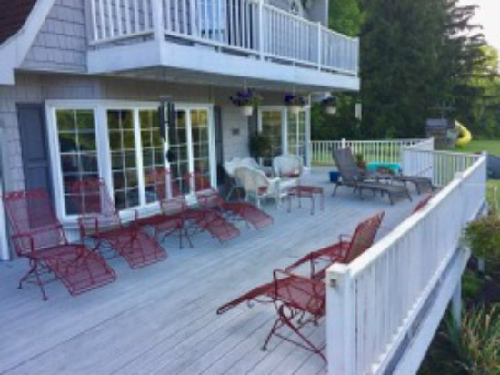 Bemus Point, NY: The side porch