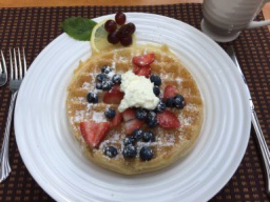 Bemus Point, NY: Our Special Order Waffle