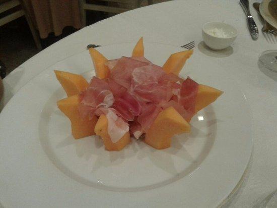 Hotel Leon d'Oro d'Orta : Prosciutto e melone