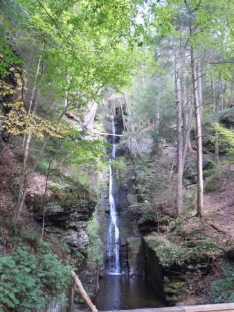 Dingmans Ferry, PA: Silver thread Falls 3