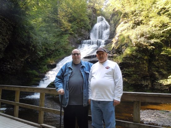 Dingmans Ferry, PA: Me and Dad at Dingman's Falls