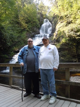 Dingmans Ferry, PA: Dad and I at Dingman's Falls