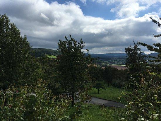 Witzenhausen, Allemagne : Die Burg und der Blick auf die Han stein.