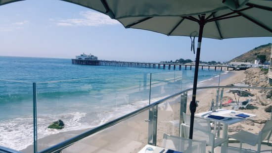 Carbon Beach Club Restaurant Amazing Lunch With The Best Ocean View In Malibu