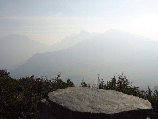 Sunshine Village: view -- smoke hampered