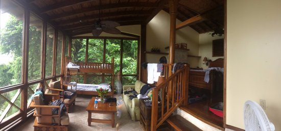 Ian Anderson's Caves Branch Jungle Lodge: Pano of Treehouse main floor.